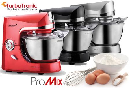 TurboTronic Pro-Mix keukenmachine   Multifunctionele mixer voor brood, taart en meer
