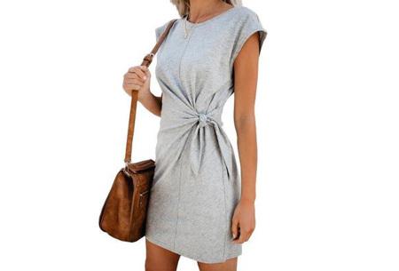 Basic zomerjurk | Strik jurk in 5 hippe kleuren Grijs