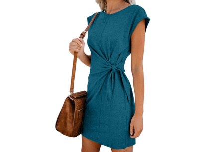 Basic zomerjurk | Strik jurk in 5 hippe kleuren Groen