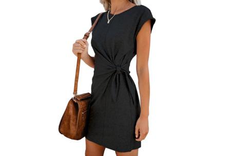 Basic zomerjurk | Strik jurk in 5 hippe kleuren Zwart