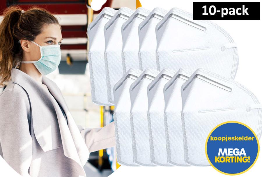 10-pack mondkapjes met KN95 certificering