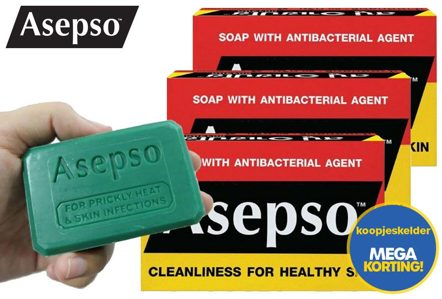 Asepso desinfecterende zeep in de aanbieding