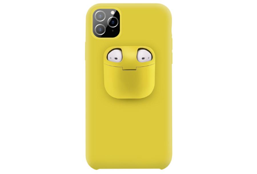 Telefoonhoesje met case voor oordopjes Type iPhone 11 - Geel
