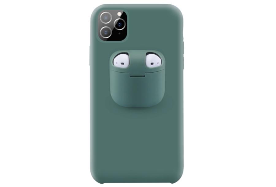 Telefoonhoesje met case voor oordopjes Type iPhone 8 - Groen