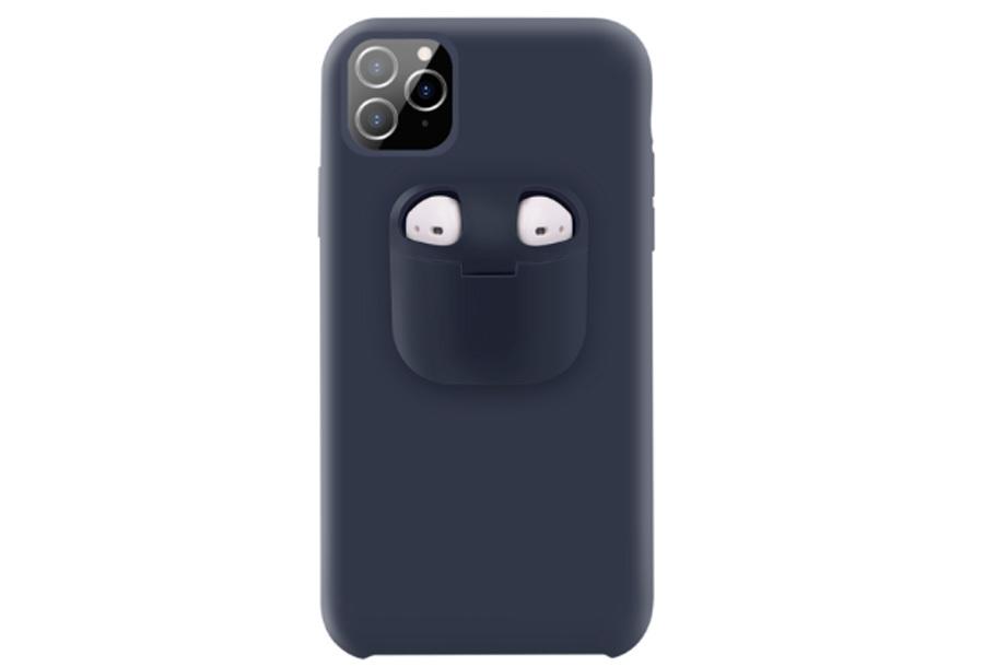 Telefoonhoesje met case voor oordopjes Type iPhone 7 - Navy