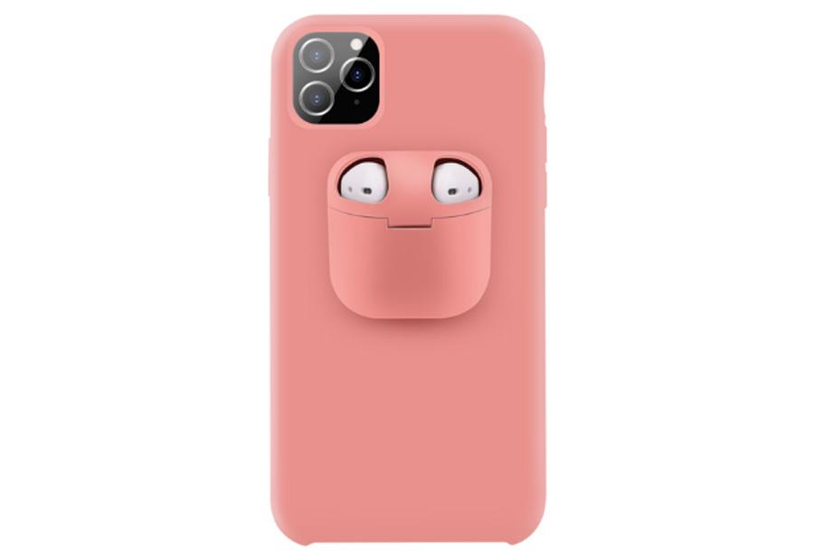 Telefoonhoesje met case voor oordopjes Type iPhone 8 - Roze