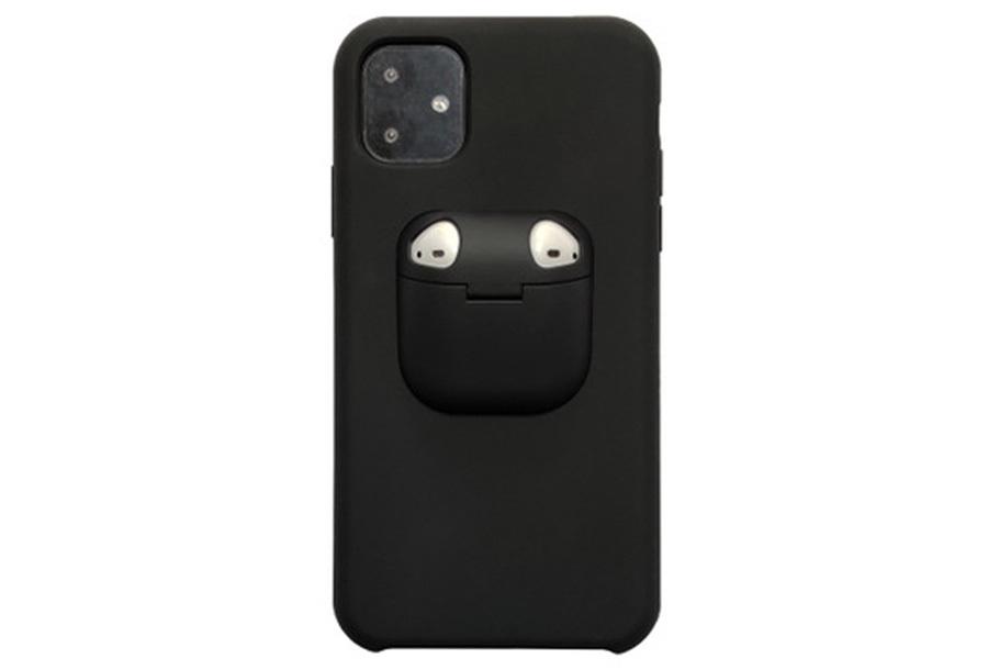 Telefoonhoesje met case voor oordopjes Type iPhone X - Zwart