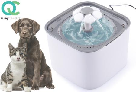 FlinQ drinkfontein voor huisdieren | Waterfontein voor kat & hond met koolstoffilter