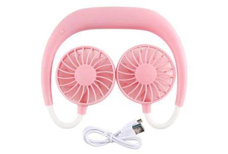 Nek ventilator | Draagbare mini ventilator voor om je nek of op tafel