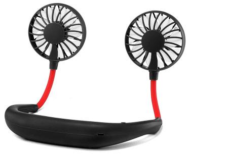 Nek ventilator | Draagbare mini ventilator voor om je nek of op tafel zwart