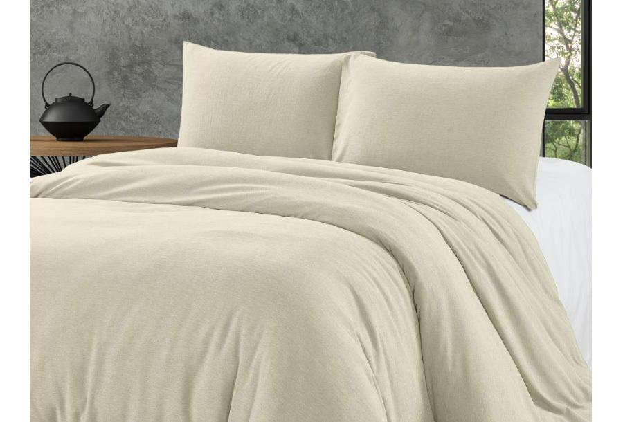 Bamboo touch dekbedovertrek Maat 200 x 220 cm - Crème