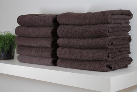 Handdoeken pakket 12 stuks - Antraciet - 50 x 100 cm
