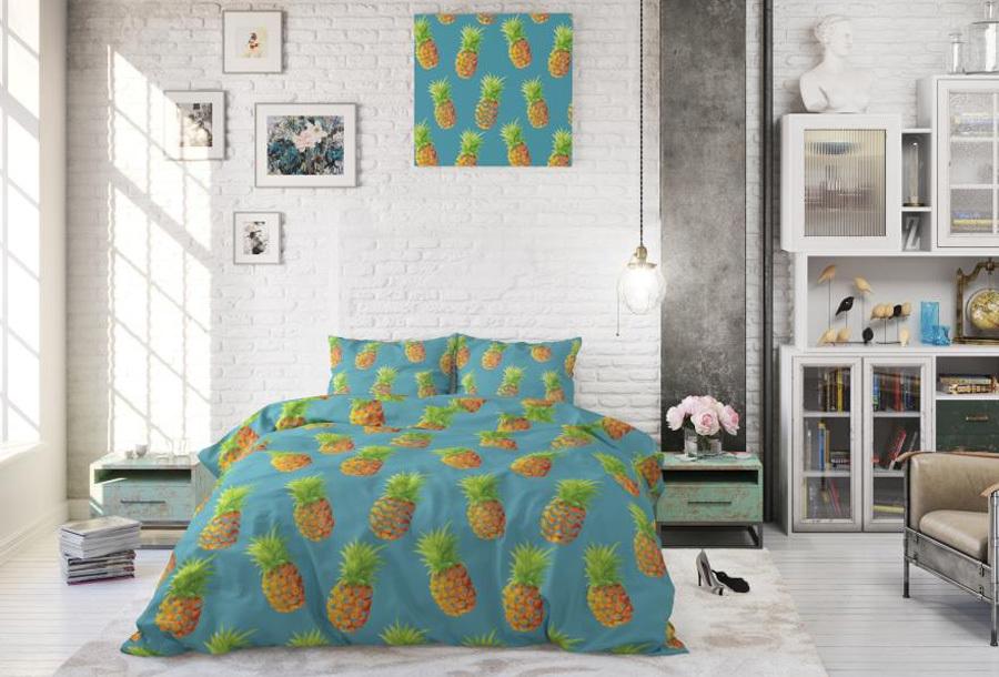 Tropical dekbedovertrekken Maat 140 x 220 cm - Pineapples