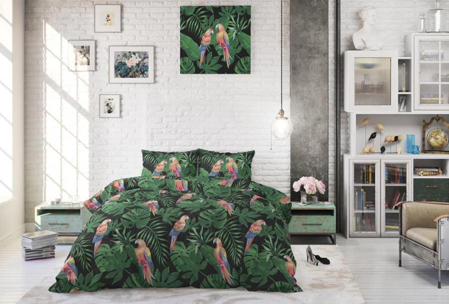 Tropical dekbedovertrekken Maat 240 x 220 cm - Tropical parrot