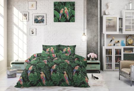 Tropical dekbedovertrekken | Dekbedhoezen van een fijne katoenmix Tropical parrot