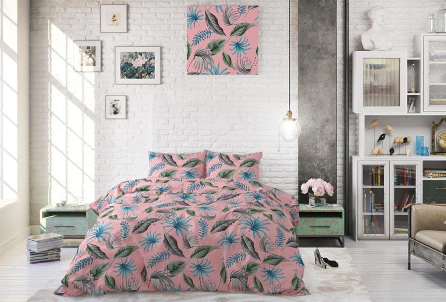 Tropical dekbedovertrekken Maat 240 x 220 cm - Yellie pink