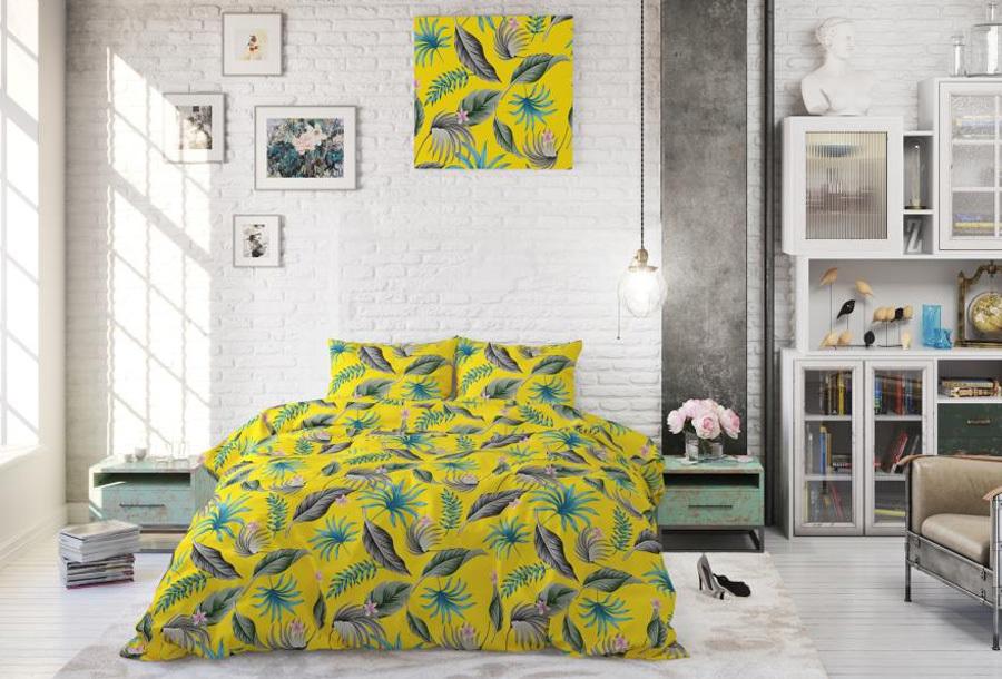 Tropical dekbedovertrekken Maat 240 x 220 cm - Yellie yellow