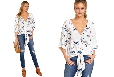 Oversized blouse | Zomerse dames top met leuke print #A