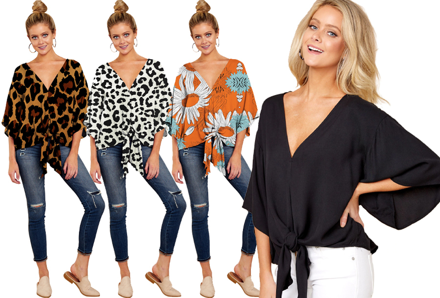 Oversized blouse in de sale