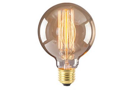 Vintage kooldraad lampjes G80 - A