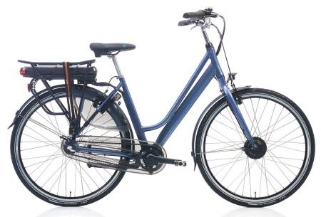 Shimano elektrische fietsen voor dames en heren | Stijlvolle E-bikes in diverse kleuren en maten Grijs lila metallic