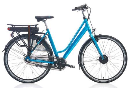 Shimano elektrische fietsen voor dames en heren | Stijlvolle E-bikes in diverse kleuren en maten Azuurblauw metallic