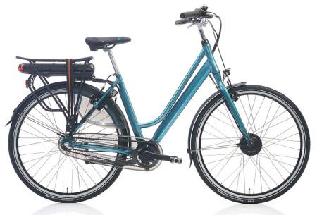 Shimano elektrische fietsen voor dames en heren | Stijlvolle E-bikes in diverse kleuren en maten Petrol metallic