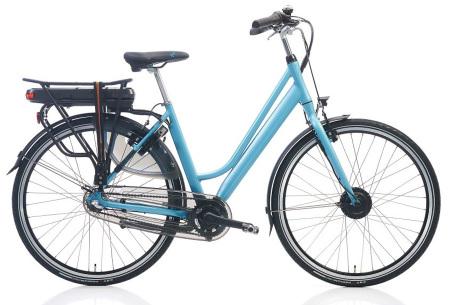 Shimano elektrische fietsen voor dames en heren | Stijlvolle E-bikes in diverse kleuren en maten Lichtblauw mat