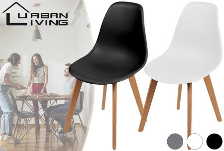 Set van 4 Urban Living kuipstoelen   Trendy eetkamerstoelen in 3 kleuren