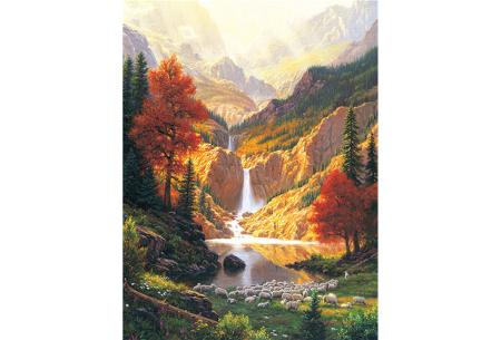 Diamond painting natuur | Knutselen voor volwassenen! Kies uit 14 afbeeldingen #4 Herfst