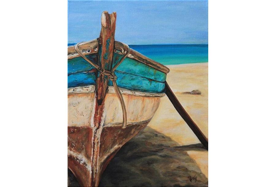 Diamond painting natuur #6 Boot - 40 x 50 cm