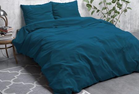 Zensation dekbedovertrek | Stone washed dekbedhoes - In 6 kleuren Blauw
