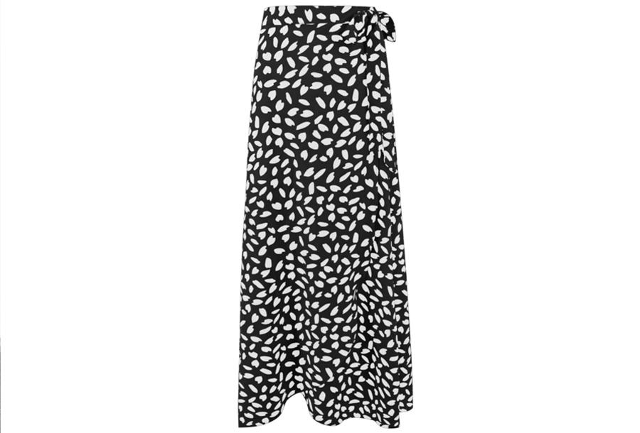 Lange rok Maat L - Zwart
