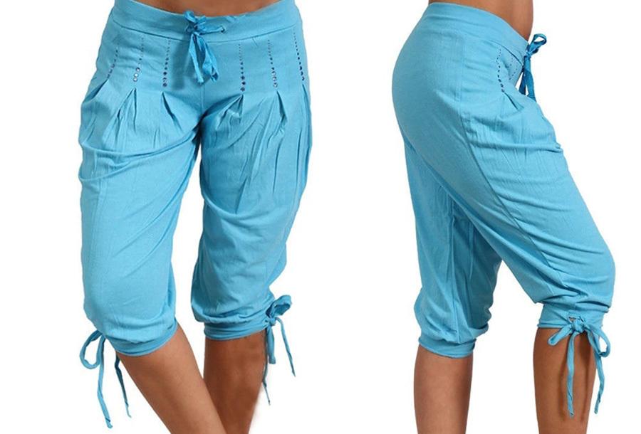 Driekwart broek dames - Maat S - Lichtblauw