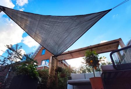 Schaduwdoek met solar ledverlichting | Sfeervol zonnedoek met hoge uv-bescherming