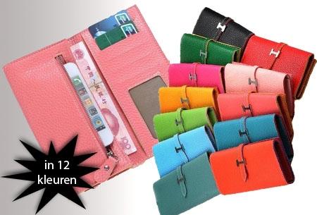 PU lederen dames portemonnee in 6 kleuren t.w.v. €24,95 nu €6,95!
