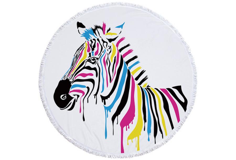 Rond kleed #6 Gekleurde zebra