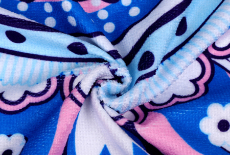 Rond kleed met dierenprint | Vrolijke strandhanddoek van zacht badstof