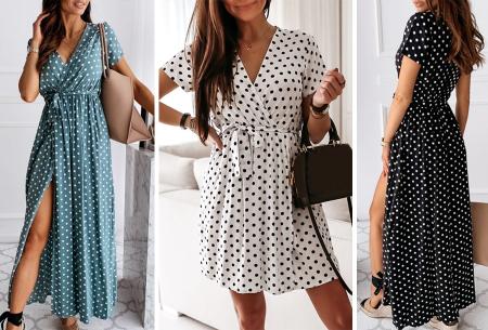 Polkadot jurken | Kies uit een maxi jurk of korte jurk - In diverse kleuren