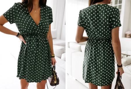 Polkadot jurken | Kies uit een maxi jurk of korte jurk - In diverse kleuren Kort - groen