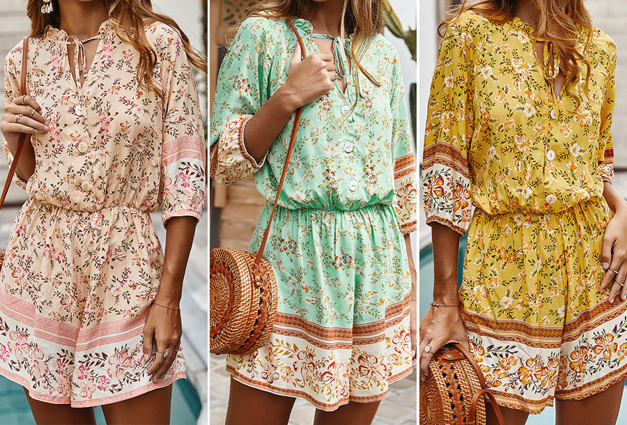Boho playsuit in de sale