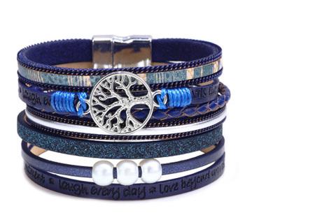Ibiza armbanden | Zomerse armbandenset in Ibiza style B - Blauw