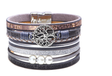 Ibiza armbanden | Zomerse armbandenset in Ibiza style B - Grijs