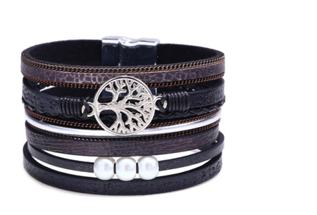 Ibiza armbanden | Zomerse armbandenset in Ibiza style B - Zwart