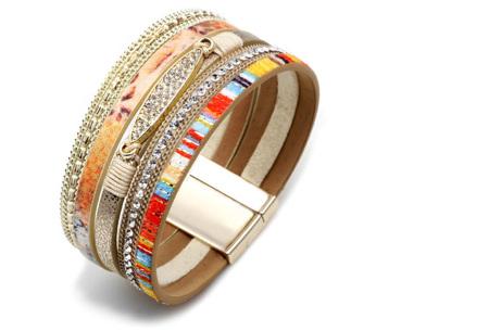 Ibiza armbanden | Zomerse armbandenset in Ibiza style C - Beige