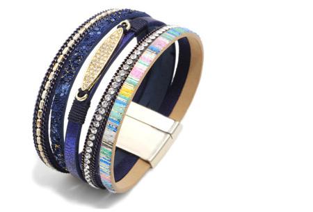 Ibiza armbanden | Zomerse armbandenset in Ibiza style C - Blauw