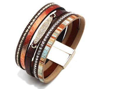 Ibiza armbanden | Zomerse armbandenset in Ibiza style C - Bruin