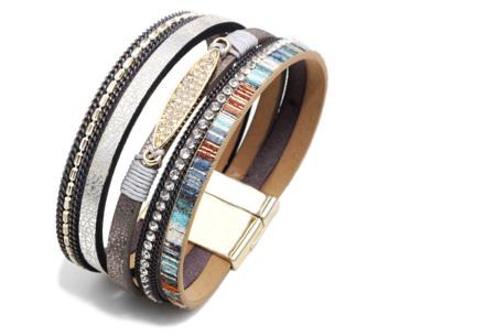 Ibiza armbanden | Zomerse armbandenset in Ibiza style C - Grijs