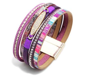 Ibiza armbanden | Zomerse armbandenset in Ibiza style C - Paars