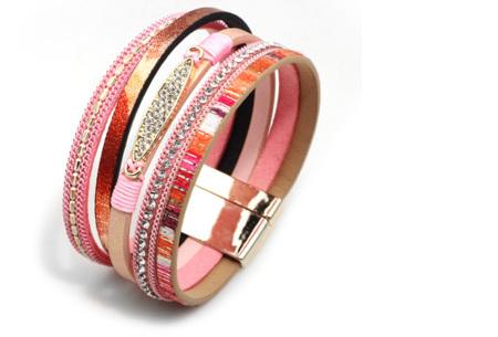 Ibiza armbanden | Zomerse armbandenset in Ibiza style C - Roze